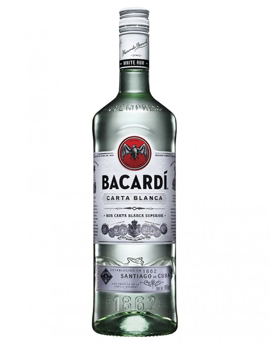 Ron Bacardi Blanco - 980 ml