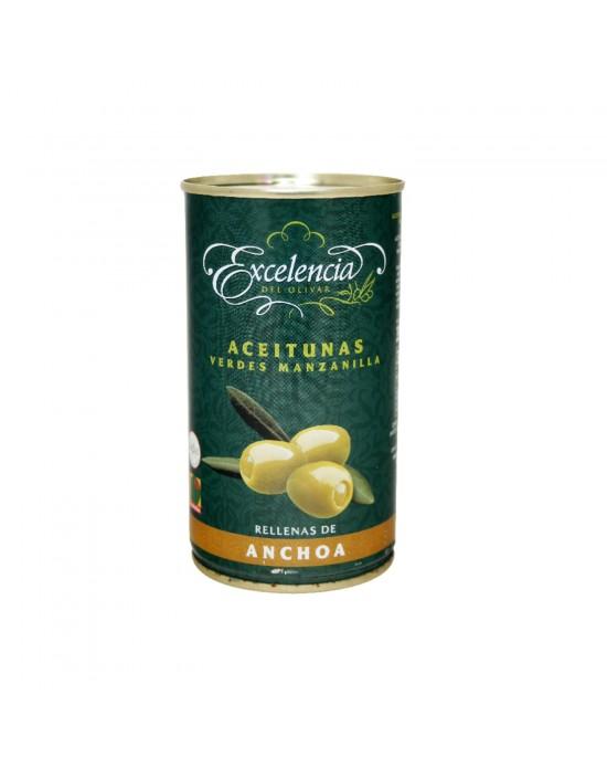Aceitunas Verdes Rellenas de Anchoas Excelencia - 350 g