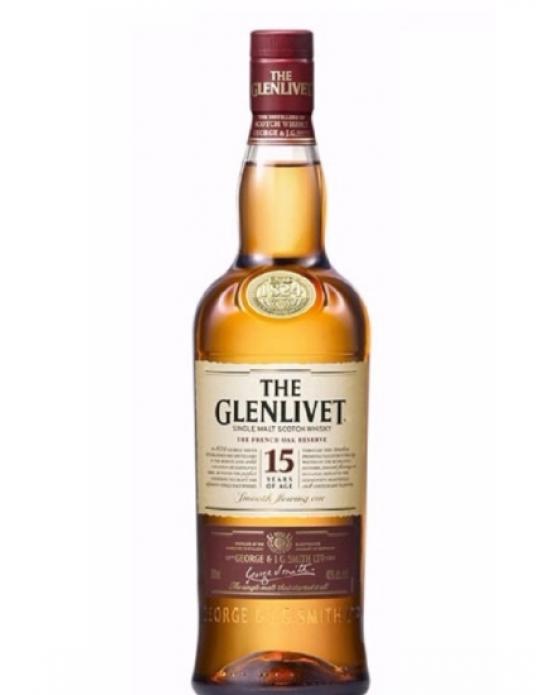 Whisky Glenlivet Malt 15 Años - 750 ml