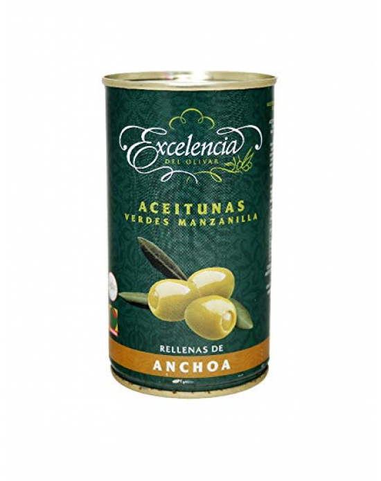 Aceitunas Rellenas De Anchoas Excelencia 350 gr
