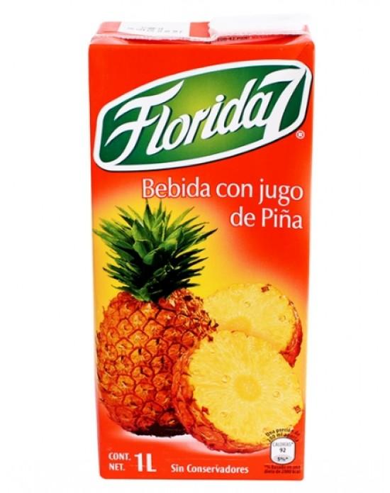 Florida 7 con jugo de piña 1L