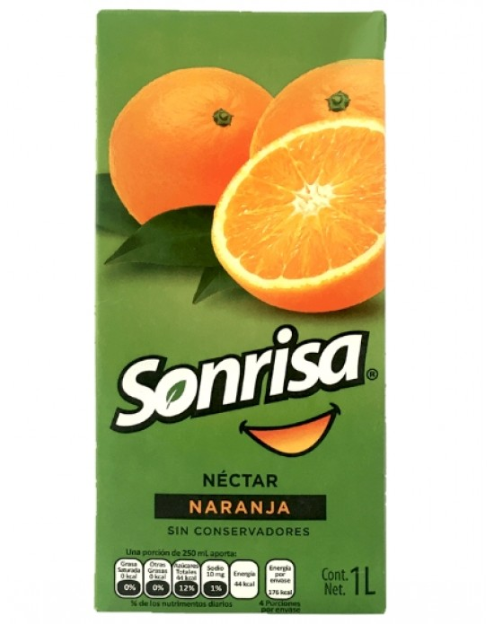 Sonrisa con jugo de Naranja 1L