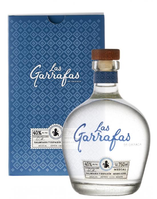Mezcal Las Garrafas Mono Azul Joven - 750 ml