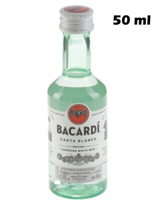 Ron Bacardi Blanco 50ml. Miniatura