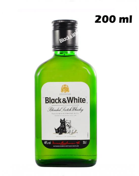 Whisky Escoces Black&White  200 ml