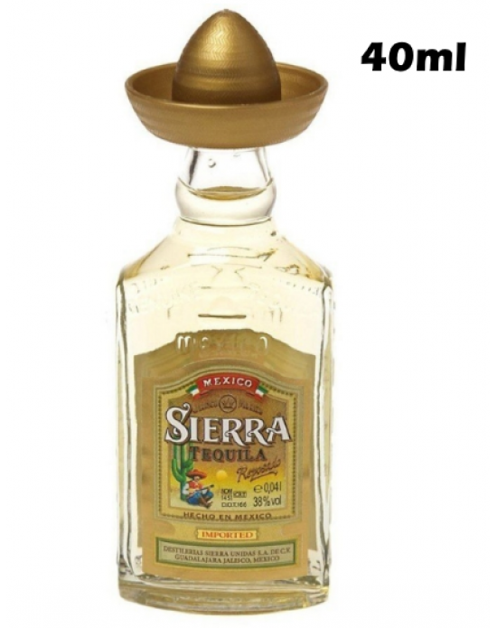 Sierra Tequila Reposado 40ml. Miniatura