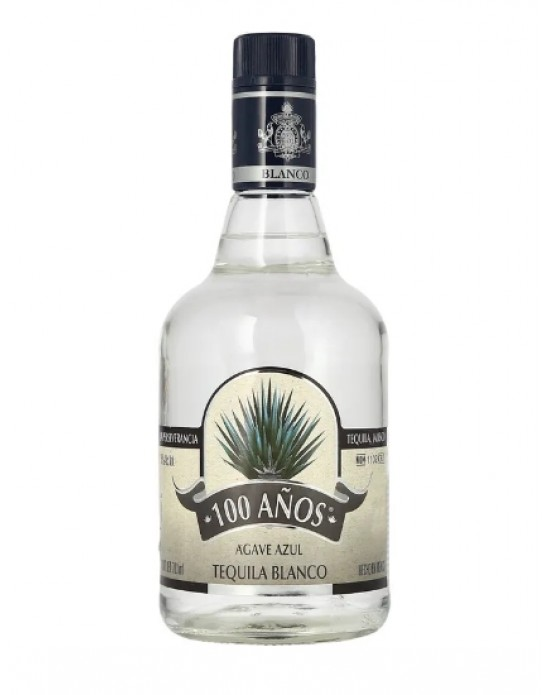 TEQUILA 100 AÑOS BLANCO AGAVE AZUL 700M