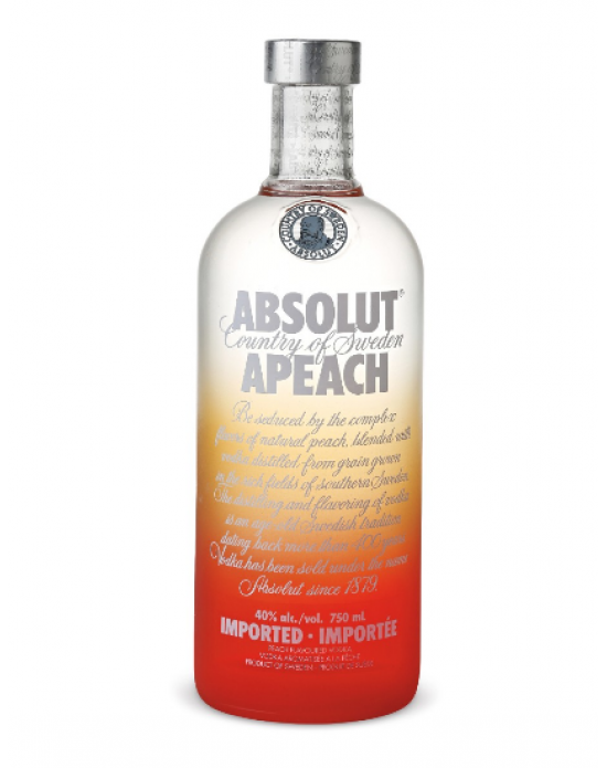 Vodka Absolut Apeach - 750 ml
