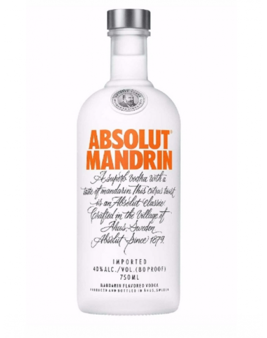 Vodka Absolut Mandarin - 750 ml
