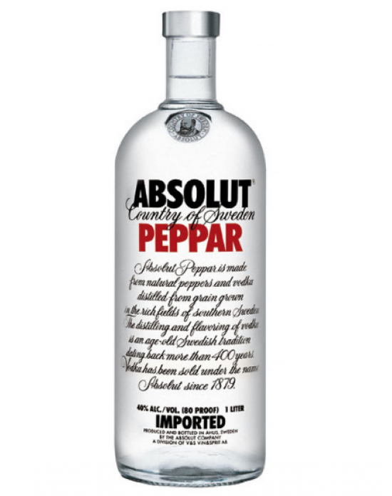 Vodka Absolut Peppar - 750 ml