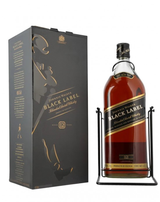 WHISKY JOHNNIE WALKER BLACK LABEL 12 AÑOS CON COLUMPIO 4.5 L