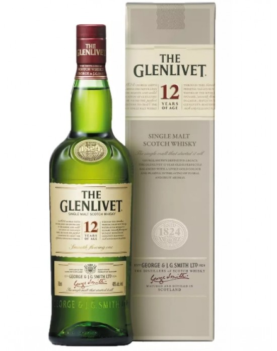 Whisky Glenlivet Malt 12 Años - 750 ml